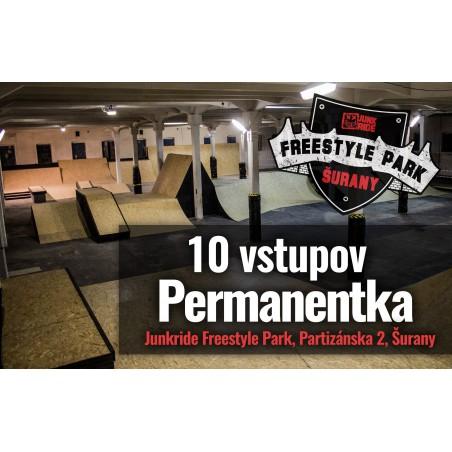 10 VSTUPOV PERMANENTKA JUNKRIDE FREESTYLE PARK