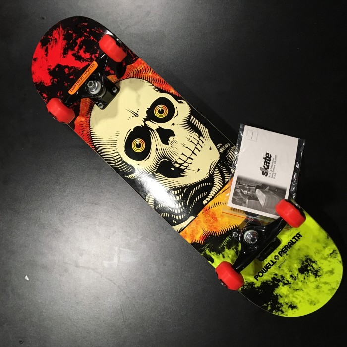 SKATEBOARD POWELL PERALTA Ripper Storm Red-Lime 8.0