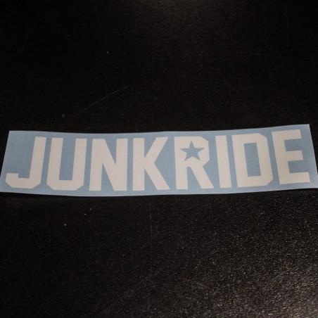 JUNKRIDE STICKER 16cm WHITE