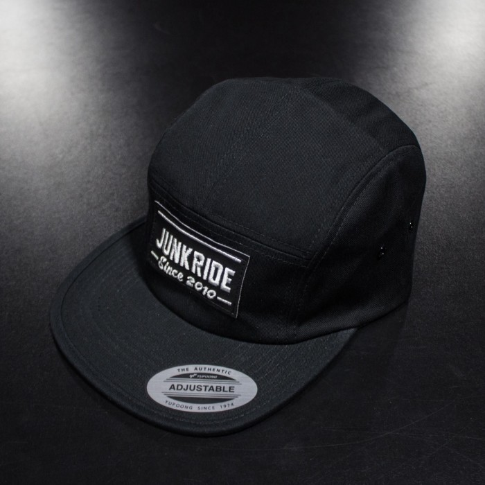 JUNKRIDE 5 PANEL CAP BLACK