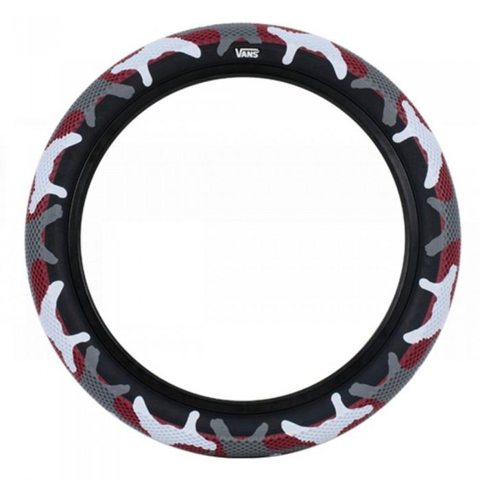 CULT VANS TIRE RED CAMO/ BLACK WALL