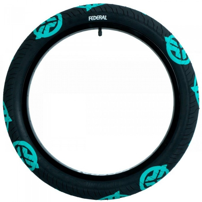 FEDERAL COMMAND LP TIRE BLACK TEAL LOGOS