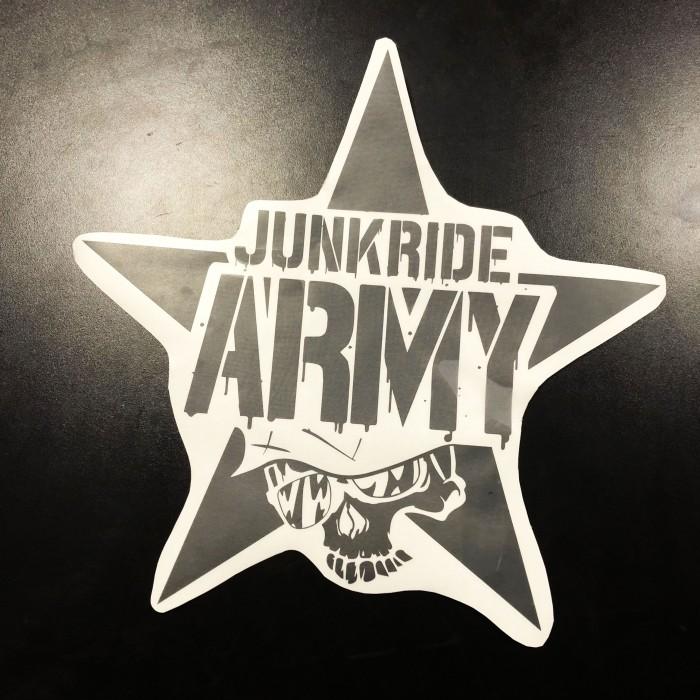 JUNKRIDE ARMY 45CM NÁLEPKA