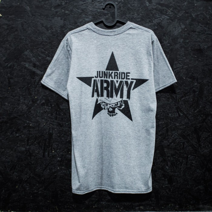 JUNKRIDE ARMY T-SHIRT GREY